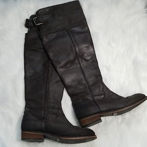 BP. Chocolate brown distressed knee high boots sz